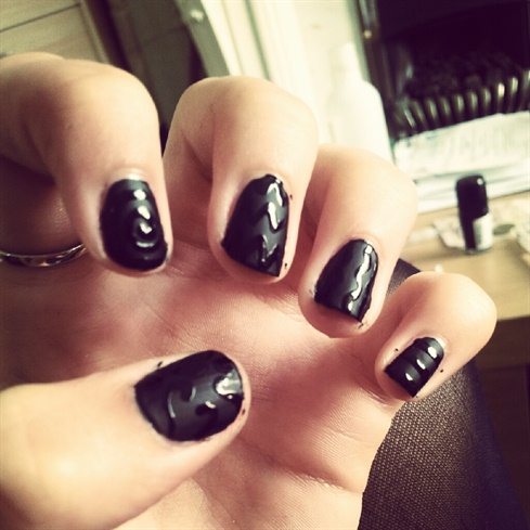 Matte black patterns