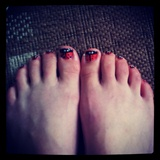 Ladybird toenails