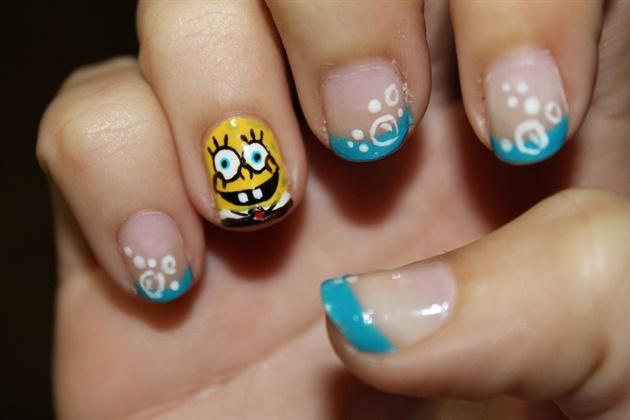 Spongebob Nail Art Gallery - Spongebob nail decals