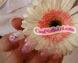 Glittery Power Butterfly Nail Art Design