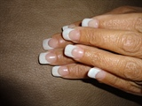 White glitter acrylic, simple