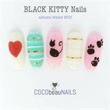 Black Kitty Nails