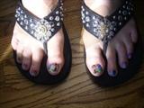 Tie Dyed Minx Toes