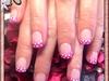 Pink pizazz & White Polka Dots