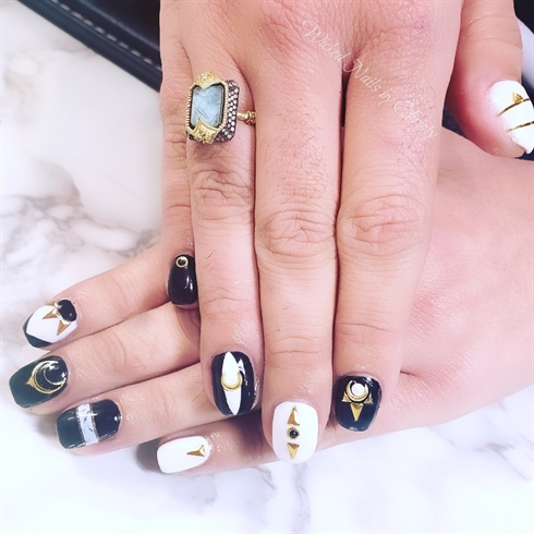 Black white and Gold