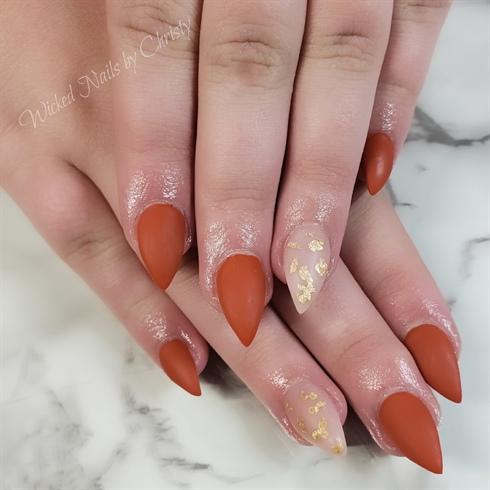 Matte Fall nails