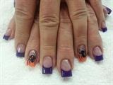 3-d Halloween spiders!