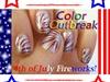 ★☆4th of July Firework Nail Art Design★☆
