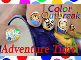 nail art: ☆Adventure Time! Nail Art Designs☆