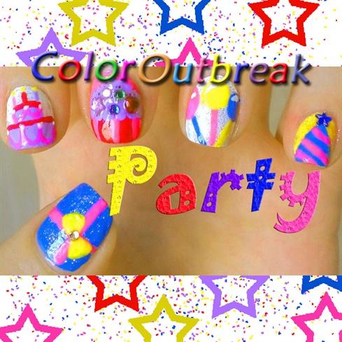 ☆Happy Birthday Party Nail Art Designs☆