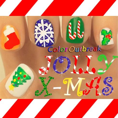 ❅.•*Jolly Christmas Nail Art Design*•.❅