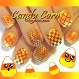 Halloween Candy Corn Gradient + Stamping