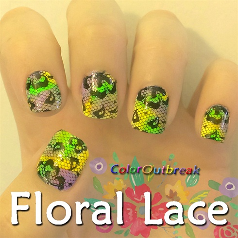 ✿Stamping Nail Art Designs- Floral Lace✿