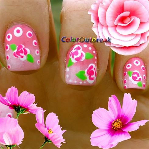 Dotting Tool Floral Nail Art Designs Nail Art Gallery