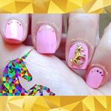 ☆3D Unicorn, Pink Nails☆