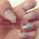 Crystal nude nail