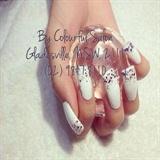 Long nail glitter
