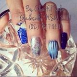 Cute blue nail
