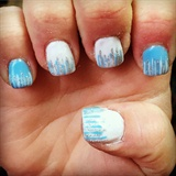 Blue White Silver