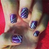 Purple And Silver Glitter