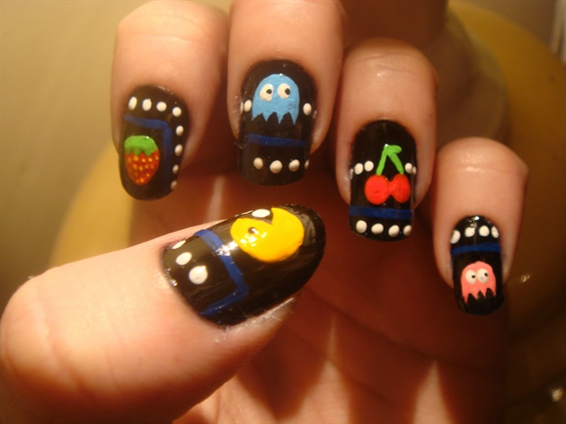Pac man nail art gallery pac man prinsesfo Image collections