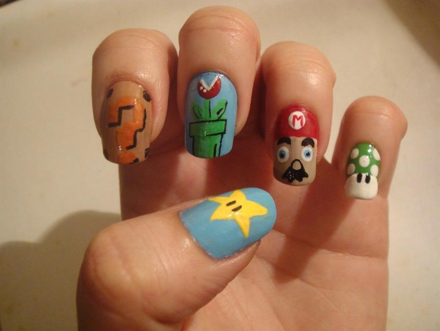 Mario Bros. - Nail Art Gallery