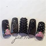 Sheer Black Roses