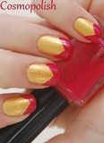 Gold with pink spitz
