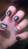 Black Pastel Nails