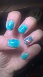 water green nail art