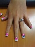 Glitter pink w/ a bow
