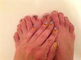 Vintage Golden Glam--Toes