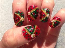 nail art: Christmas Sideways