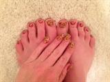 Chinese New Year Swirls--Toes