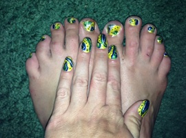 Dedicated to World Cup 2014--Toes