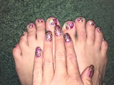 Spring Swirls--Toes