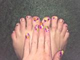 Neon Lights--Toes