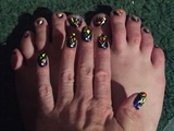 Neon Mosaics--Toes