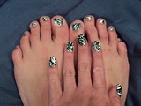 Silver and Charcoal Deco--Toes