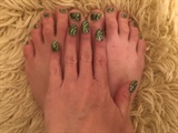 Green Glitter--Toes