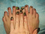Festive Christmas--Toes