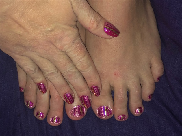 Pink Wrappers--Toes