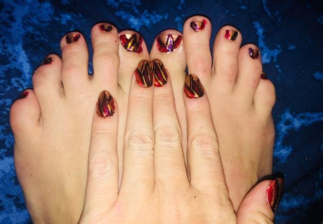 Autumn Shards--Toes