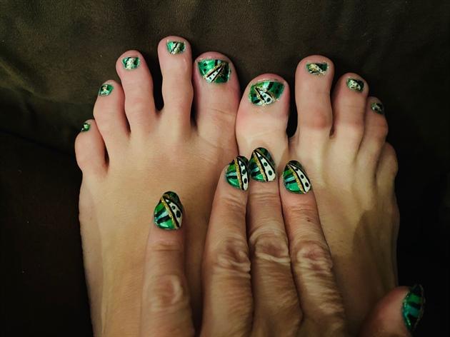 Saint Patrick's Abstract Parade--Toes
