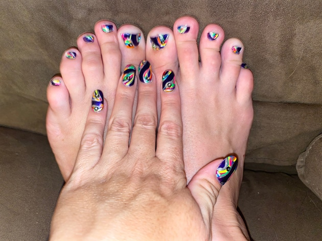 Royal Rainbow--Toes