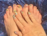 Easter Eggs in Abstract--Toes
