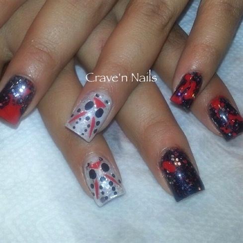 Jason Halloween Nails