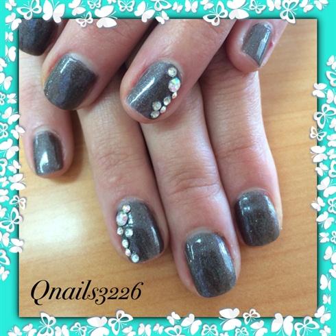 simple rhinestones  nail art gallery