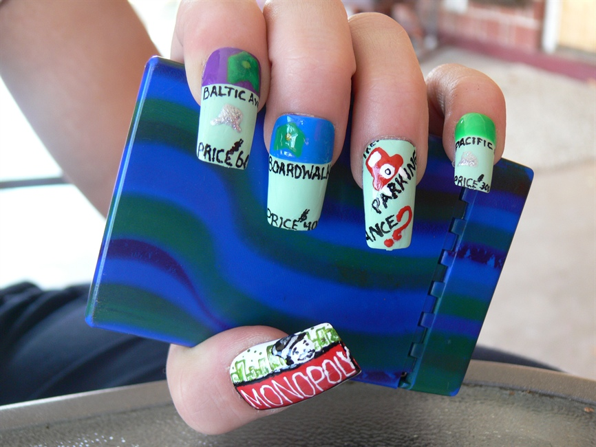 Monopoly Nails! - Nail Art Gallery
