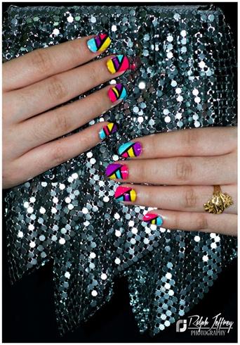 Geometric Nail Art Design